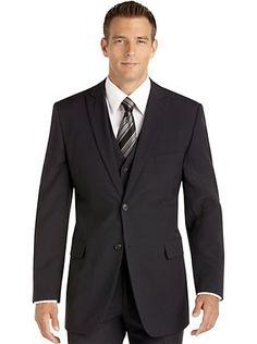Suits - Wilke Rodriguez Navy Stripe Vested Suit - Men's Wearhouse