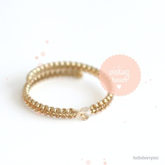 helloberry Bracelet Limited Edition Wishing Heart  by helloberry, $20.00 - I reallllly want this!!!