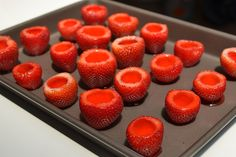 Fill them up as much as possible, because Jell-O shrinks when it solidifies. | How To Make Strawberry Margarita Jello Shots