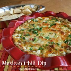 Mexican Pepper Dip is a delicious dip full of chili peppers, poblano peppers and jalapeno peppers in a cheesy based dip. Serve with tortilla chips or fresh veggies. #mexicanchilidip #diprecipes #appetizers #mexican