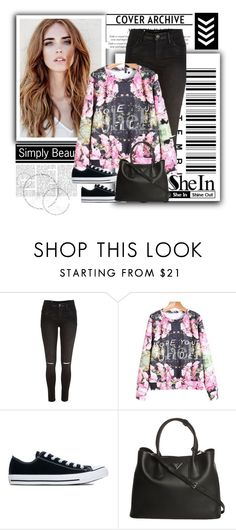 """Sheinside"" by marijaprusina ❤ liked on Polyvore featuring River Island, Converse and Prada"