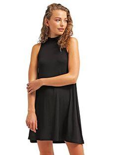 The Style Room Sommer-Kleid für Damen knielang in Rot von ☆ The Style Room  ☆ elegantes Strandkleid ohne Ärmel, Cocktailkleid aus Jersey kurz, XS  Kleider  ... 4c104c2ad5
