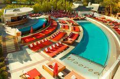 Moorea at Mandalay Bay, Las Vegas Las Vegas Hotels, Las Vegas Nevada, Mandalay, Vegas Birthday, Hotel Pool, Cool Pools, Beach Club, Beach Resorts, Wonderful Places