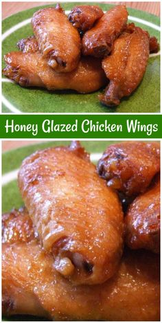 Honey Glazed Chicken Wings recipe from Honey Glazed Chicken Wings Recipe, Baked Chicken Wings, Honey Wings, Chicken Glaze, Chicken Legs, Bbq Chicken, Grilled Chicken Recipes, Chicken Wing Recipes, Cooking Recipes