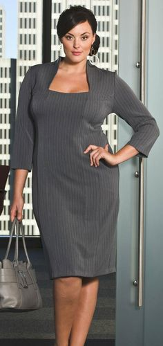 FASHION. Discussion on LiveInternet - Russian Service Online Diaries - a fabulous dress for the office, in grey, but in colour would suit any occasion, adding accessories or trim