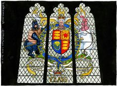 cartoon  Steve Bell on the Queen's diamond jubilee – cartoon    Stained glass window unveiled at ceremony in Westminster Hall