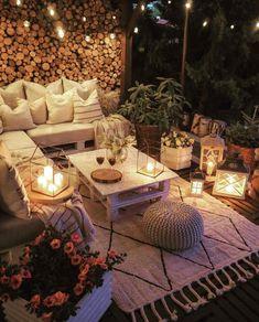 Cozy Patio, Backyard Patio, Outdoor Spaces, Outdoor Living, Outdoor Decor, Outdoor Balcony, Bohemian Patio, Bohemian Decor, Boho