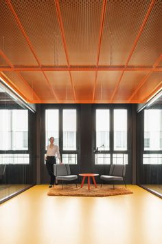 Contemporary Architecture, Interior Architecture, Communal Kitchen, Modern Agriculture, Commercial Complex, New Berlin, Green Curtains, Glass Partition, Ideal Tools