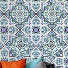 4-Spanish-tile-stencil-damask-portuguese-tile-wallpaper-pattern-wall
