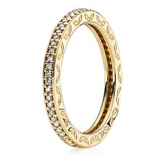 Pandora 14K Eternity with Diamond Ring June 6-30, 2014 Buy 2 Rings and we'll give you a 3rd Ring! #pandora #elisailana #stackedrings