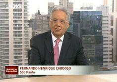 """Mesmo fracassado na tentativa de golpe, FHC faz pose: """"Dilma cai"""" Apesar das sucessivas derrotas no intento de impor um golpe contra o mandato da presidenta Dilma Rousseff, o ex-presidente Fernando Henrique Cardoso quer manter o clima do """"quanto pior melhor"""" e disse, em entrevista ao não menos golpista Manhattan Connection, programa da GloboNews exibido na madrugada desta segunda-feira (4), que a ela """"não precisa de empurrão, se cair, Dilma cai sozinha""""."""