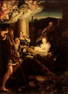 Die Heilige Nacht - Correggio - Gemäldegalerie Alte Meister