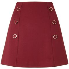 Miss Selfridge Petites Burgundy Button Skirt (180 RON) ❤ liked on Polyvore featuring skirts, burgundy, petite, women, petite skirts, burgundy skirt, miss selfridge, petite pencil skirt и burgundy pencil skirt