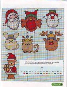 Punto de cruz navidad | Colección de patrones para realizar punto de cruz gratis