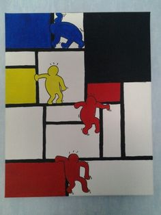 Keith Haring & Piet Mondriaan