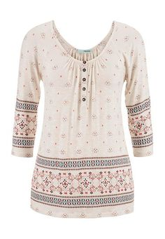 patterned cold shoulder peasant top (original price, $29) available at #Maurices
