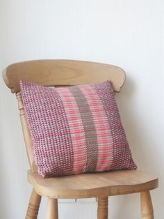 Handwoven Merino Wool Cushion by WindItUpDesigns on Etsy