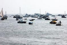 Sea group of yachts sail boats