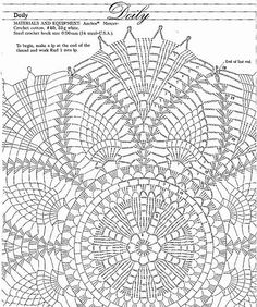 crochet doily diagrams | Hi everyone! I'm back. I've been extremely busy lately. But now I'm ...