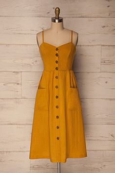 Womens Clothes Box after Best Casual Outfits 2019 while Casual Dress For Beach Party. Womens Clothes Sale Clearance Matalan outside Casual Outfits Apple Shape Casual Dress Outfits, Mode Outfits, Yellow Dress Casual, Mustard Yellow Outfit, Summer Casual Dresses, Simple Dress Casual, Winter Dresses, Casual Summer, Simple Dresses