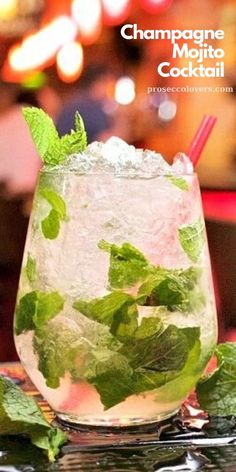 Our Champagne Mojitos have rum and fresh mint like the classic recipe, but instead of sparking water, we used champagne. For a non-alcoholic version, substitute sparkling cider for the champagne. #Champagne #Mojito #Cocktails #CocktailHour #CocktailOfTheDay #Craftcocktails #Proseccolovers #Winelovers #Masterofmixes #Barista #Champagnelover #DeliciousDrinks #SummerDrinks #SummerCocktails #Mixology Frozen Drink Recipes, Cocktail Recipes, Best Summer Cocktails, Craft Cocktails, Alcoholic Cocktails, Champagne Drinks, Mojito Cocktail, Summertime Drinks, Classic Recipe
