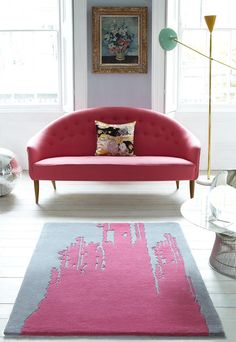 PUNK. 100% Wool. Exclusive to the Plantation Rug Company and inspired by the Spring/Summer catwalks, Punk is a one hundred percent wool rug that shows interior confidence. True to Punk style, splashes of colour are splattered on this rug.