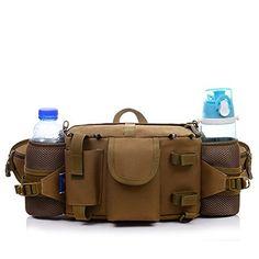 09a5cf2b69d Waterproof Fanny Waist Pack Bag Canvas Retro Trend Tactical Bag 8L Big  Capacity Military bag for