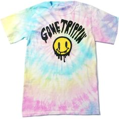 Smiley T-Shirt - Pastel Tie Dye T-Shirt- Hand Painted - Pastel Grunge... ($35) ❤ liked on Polyvore featuring tops, t-shirts, tye dye shirts, pink shirt, pastel tie dye shirt, tye dye t shirts and tie dyed shirts