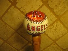 Los Angeles Angels Kegerator Beer Tap Handle by SportsBeerTapsPlus