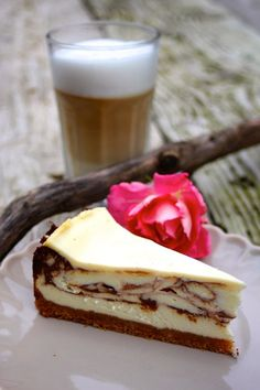 Cheesecake mit Schokoladenswirl und Schmandguss