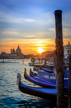 Venice, Italy...  Great Romantic location to see a sunset!