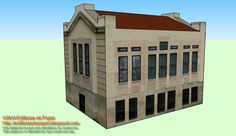 Maqueta de papel 1536: Mod3 Antiguo Hospital Ourense Simplemente, un complemento para que podais combinar los edificios y construir un pequeño complejo en vuestra maqueta urbana, sea de trenes, de juegos, etc.