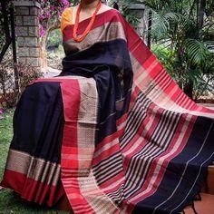 Sari Silk, Silk Sarees, Saree Blouse Neck Designs, Handloom Saree, Indian Designer Wear, Saree Collection, Indian Sarees, Indian Wear, Wardrobes