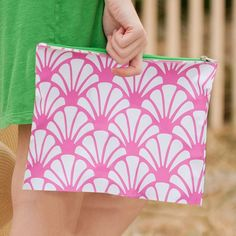Shelly Monogrammed Zip Pouch