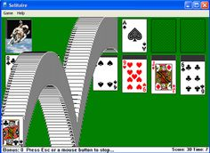 Windows Solitaire Card Games   computer solitaire game. Picture courtesy of playerzblog.com
