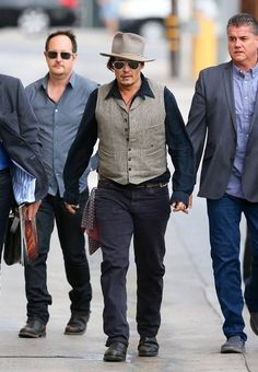 Johnny Depp arrives at Jimmy Kimmel Live! Don't forget to watch the show tonight.