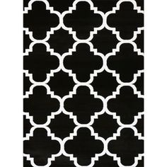 Safavieh Chatham Black Ivory 6 Ft X 9 Ft Area Rug