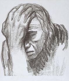 Käthe Kollwitz (1867-1945) was een Duitse grafisch kunstenares en beeldhouwster. Ze had een grote belangstelling voor de sociaaldemocratie, de vrouwenbeweging. Gegrepen door de sociale noden en de verbondenheid tussen moeder en kind, maakte zij deze tot onderwerp van haar prenten. Ze wijdde zich geheel aan de grafische technieken, die zich het best leenden voor het getuigend karakter van haar werk. Pas omstreeks haar vijfenveertigste begon zij te beeldhouwen.