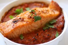 Piperade with Spicy Broiled Salmon