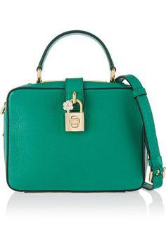 Dolce & Gabbana | Rosaria textured-leather shoulder bag | NET-A-PORTER.COM