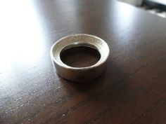 Silver Coinring made from a 1964 Kennedy Halfdollar