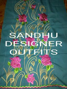 Hand Embroidery Stitches, Embroidery Dress, Machine Embroidery Designs, Dress Design Sketches, Embroidery Suits Design, Boutique Suits, Designer Punjabi Suits, Work Suits, Abayas