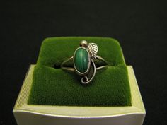 SALE Vintage Western Sterling Silver and Green Malachite by ditbge, $24.00