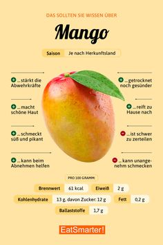 Das solltest du über Mango wissen!   eatsmarter.de #ernährung #infografik #mango