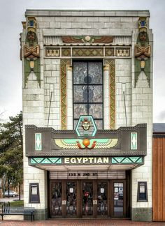 art decoegyptian revival art deco box office loew