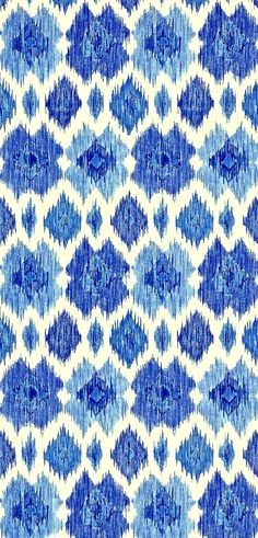 Ikat by Thibaut Design blue. Inspiration for the new Caro London 'China Blues' range for Summer Pretty Patterns, Beautiful Patterns, Color Patterns, Textile Prints, Textile Patterns, Textile Design, Ikat Pattern, Pattern Art, Winter Typ