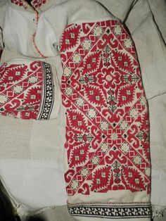 Embroidered sleeve of a woman's chemise, Sofia region