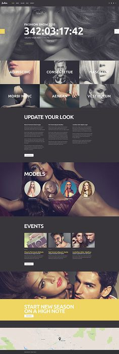Fashionista Website #WordPress #template. #themes #business #responsive