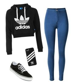 """""""adidas"""" by celestedebonis ❤ liked on Polyvore featuring Topshop, Vans and adidas"""