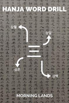 三 [삼] is the eight numeral we'll tackle in Hanja. Like most numerals this character has little use in vocabulary, but it is an basic character to know. #LearnKorean #Korean #한국어